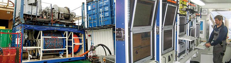 Seismic equipment used during the LOMROG cruise. Photos: Thomas Vangkilde-Pedersen.