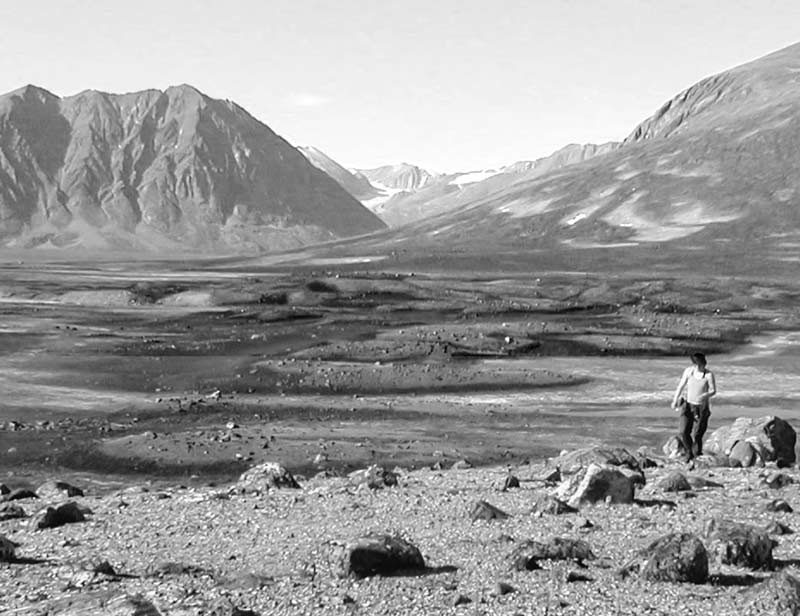 Hummocky moraines in the Zackenberg river valley. Photo: Helena Alexanderson
