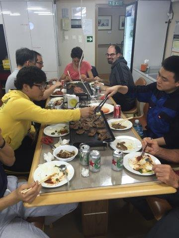 Korean barbecue is served on Saturdays – the weekly culinary highlight! Photo: Povl Abrahamsen