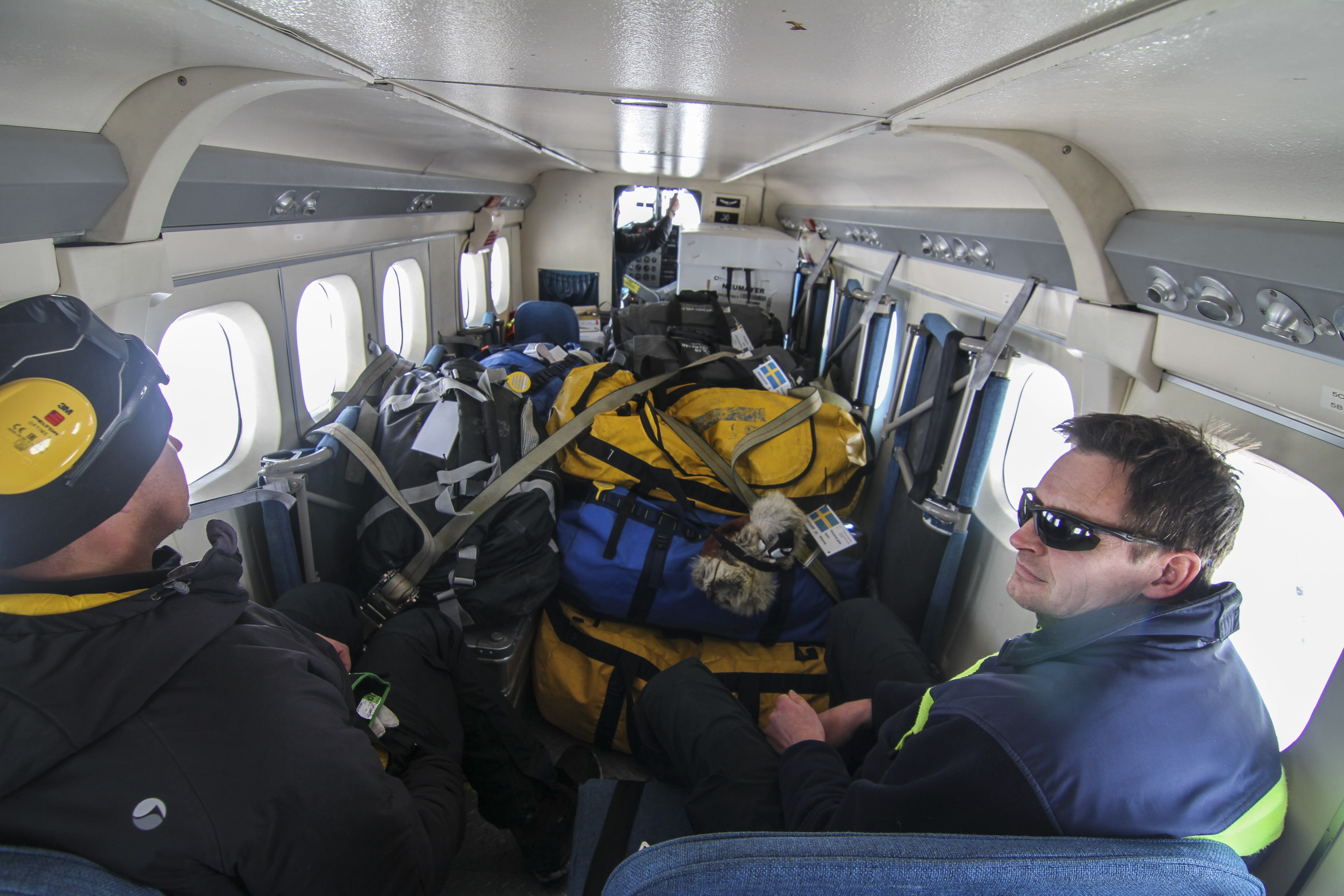 Twin otter full med packning