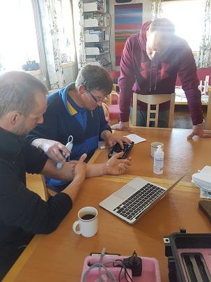 Test av ultraljudsapparater. Foto: Karin Winarve