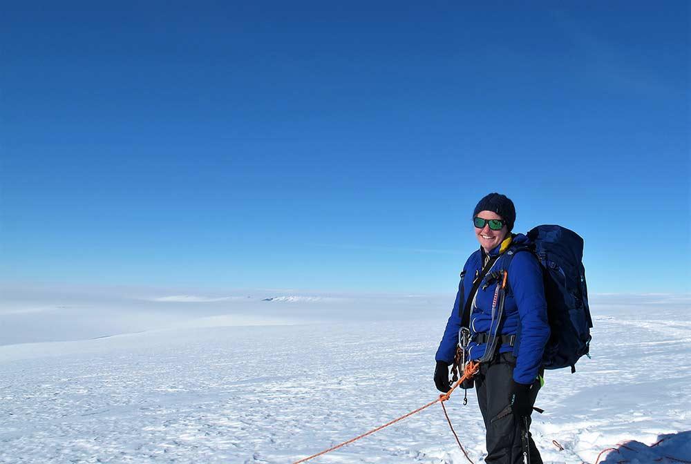 Jenny Newall on the ice