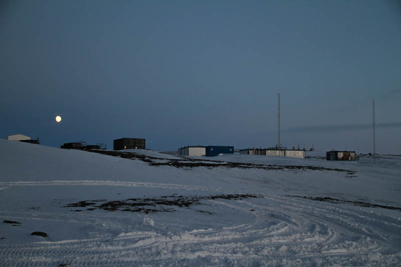 Full moon over Aboa research station
