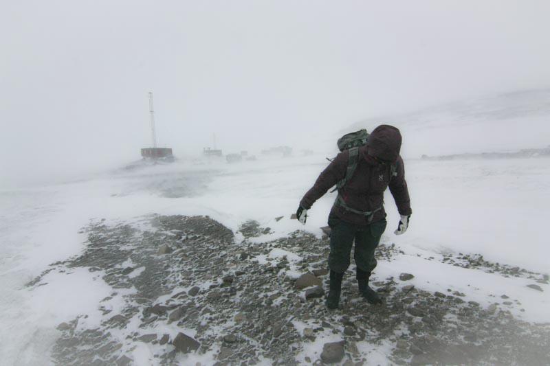 Blåsigt i Antarktis