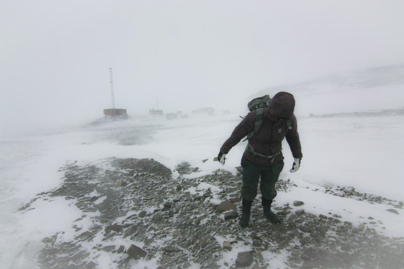Windy in Antarctica