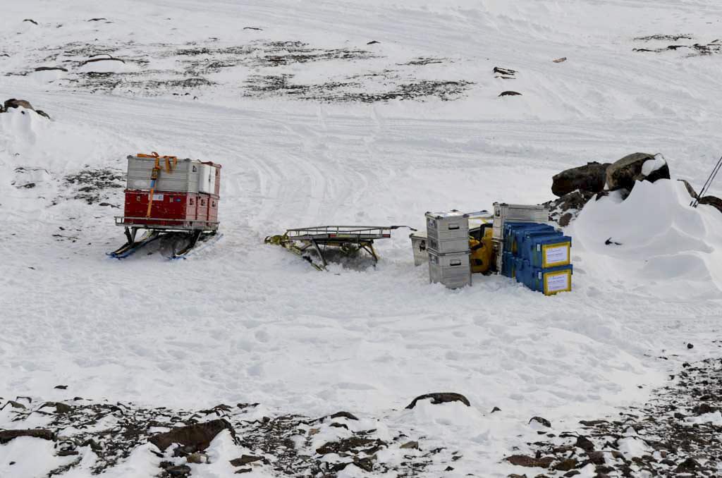 Utrustning i Antarktis
