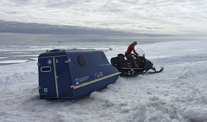 Testing the snowmobile