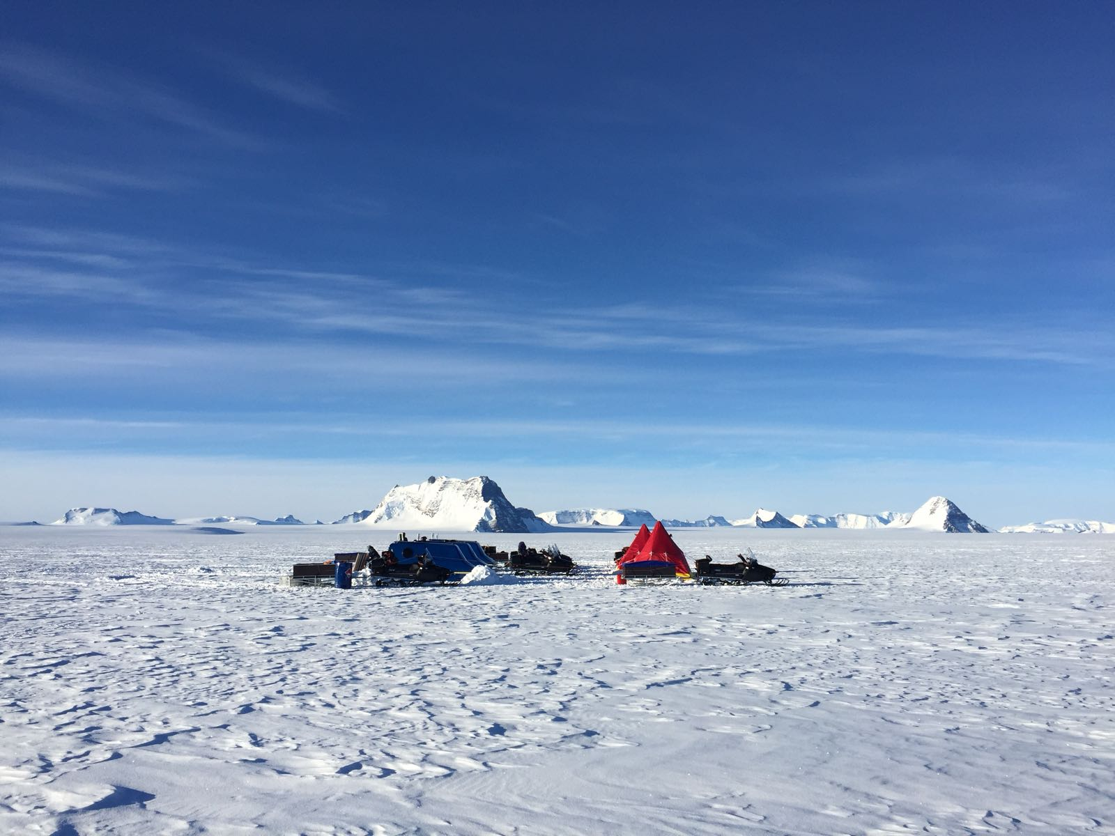 Camp on the ice