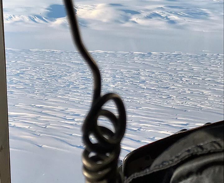 Ice stream from the air