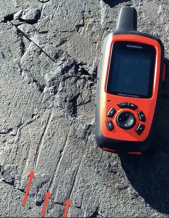 GPS bredvid isräfflor