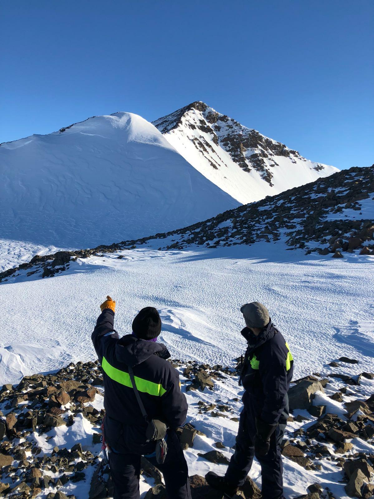 Forskare och bergstopp