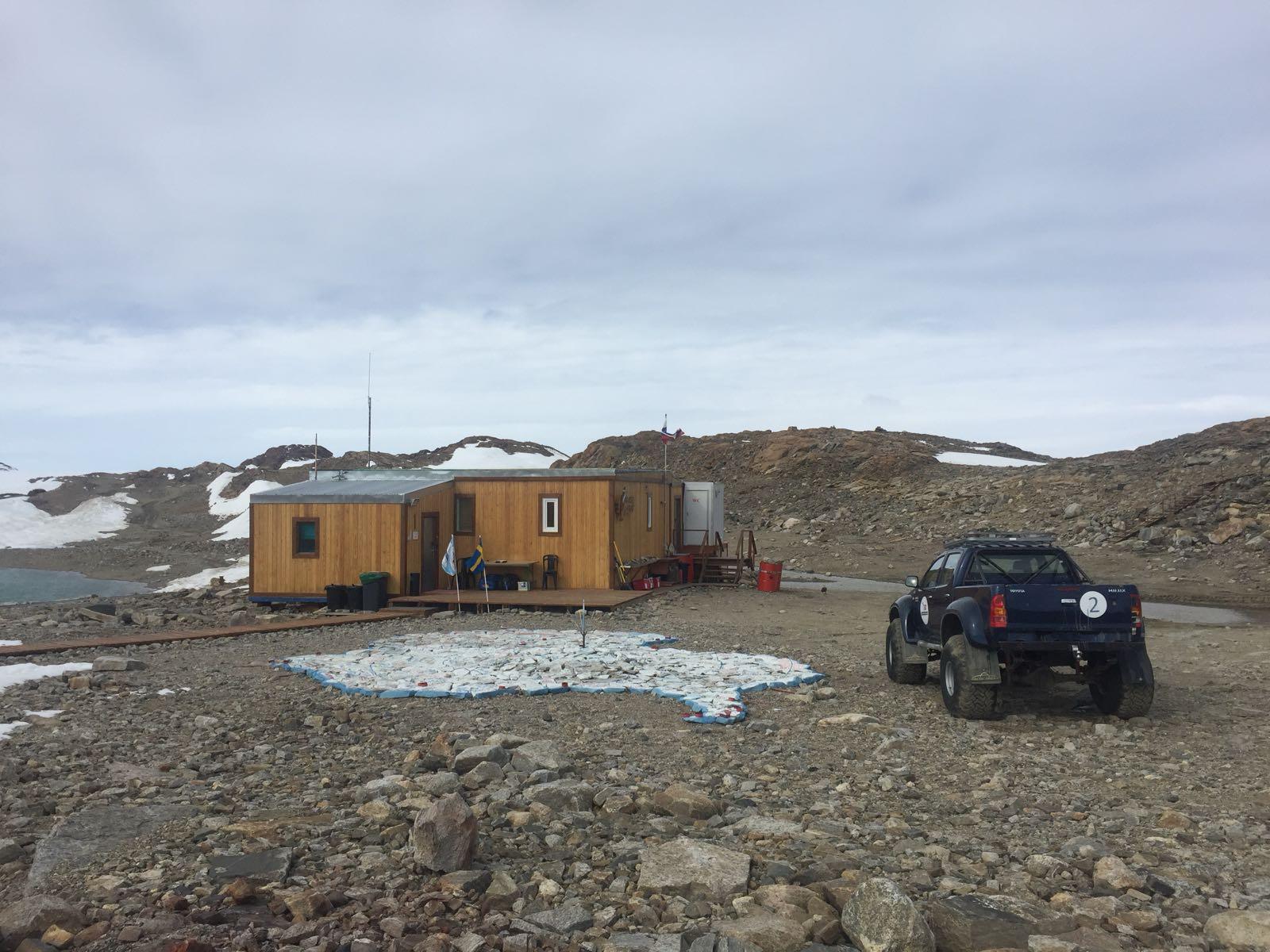 Gästhus i Antarktis