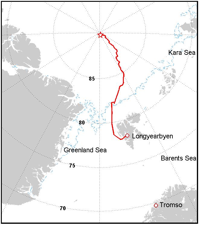 Karta över rutt