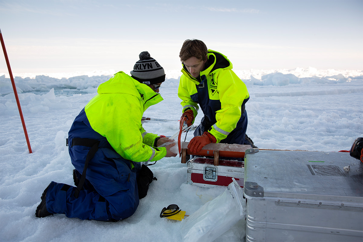 Sectioning ice cores