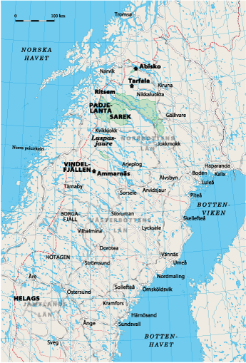 Karta: Arktiska Sverige